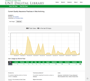 Usage Statistics for item in the UNT Digital Library